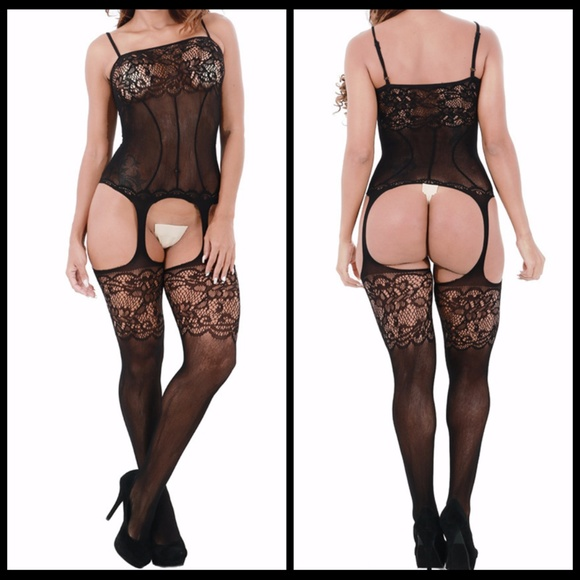 Miss Babydoll Other - ❤️NEW Sexy Lace Garter Bodystocking Lingerie #L025